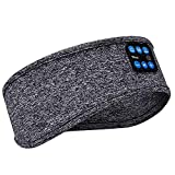 Midola Sleep Headphones Wireless Bluetooth Sports Headband White Noise Built-in HD Stereo Speakers Sound Machine Side Sleepers Soft Sleeping Running Workout Jogging Insomnia Air Travel Meditation Grey