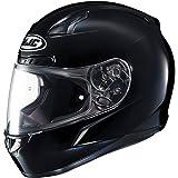HJC Solid Men's CL-17 Full Face Motorcycle Helmet - Black/Large