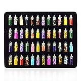 Tree-es-Life 48 Botellas/Set Diseño Popular Mujeres Nail Beauty Nail Art Stickers DIY 3D Glitter Powder Manicure Decorations Set - Multicolor Mezclado