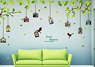 UberLyfe Green Nature with Photo Frames Wall Sticker - 2 Sheet Size 5 (Wall Covering Area: 210cm x 275cm) - WS-000908