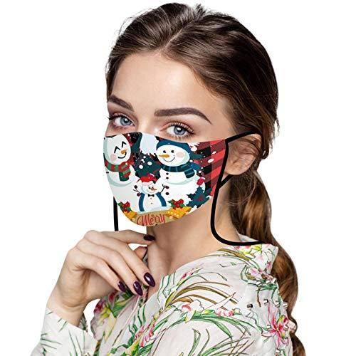 ZHX 1 Stück Weihnachten Mund und nasenschutz Schutztuch Gesichtsschutz Schutzhülle Outdoor Schutztuch staubdicht Winddicht Mund Schal für die Sportmaske (F)