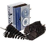 FIX40 Felgen-Reinigungsbürsten-Set, aus sehr weichem Rosshaar, zum Reinigen, Trocknen und zur Politur