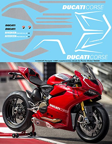 1/4 Ducati Panigale 1199 R Supplementary Decals for POCHER Decal TBD280