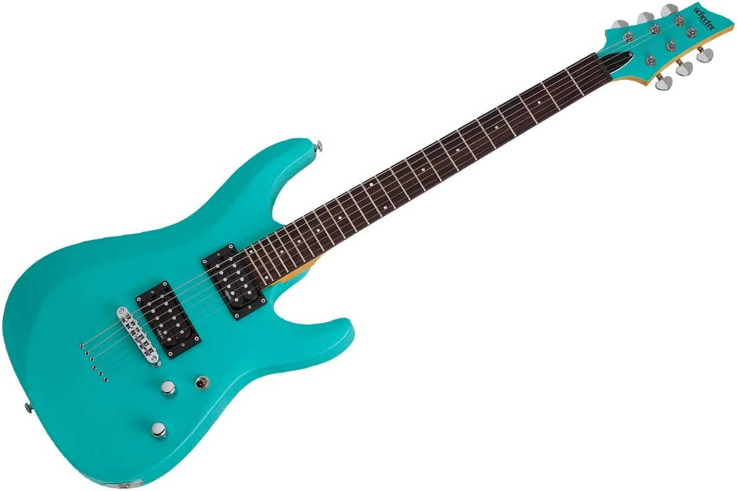 Schecter C-6 Deluxe - Guitarra eléctrica (acabado satinado), color azul