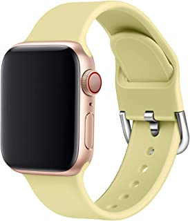 Correa Straps Compatible Apple Watch Series 5 4 3 2 1 38/40mm 42/44mm Suave Silicona Reemplazable Lavable Transpirable Car...