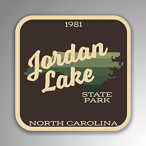 JMM Industries Jordan Lake State Park North Carolina Vinyl-Aufkleber, Retro-Vintage-Look, 10,2 x 10,2 cm, Premiumqualität, UV-Schutz-Laminat SPS373