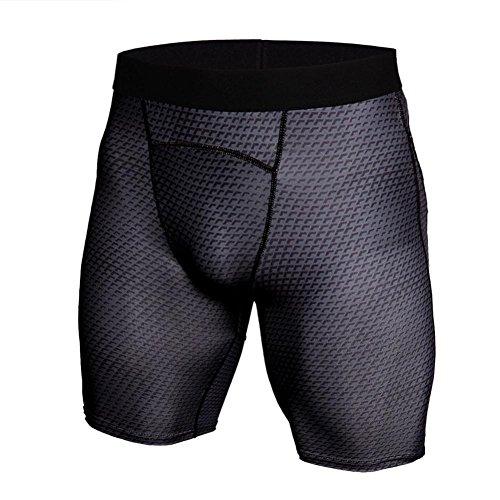 GreatestPAK Herren Snake Skin Gedruckt Atmungsaktiv Schnell trocknend Sport Shorts Gym Kurze Hosen Workout Fitness Sport Shorts,Dunkelgrau,M