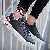 Zapatos de color blanco salvaje para hombres coreanos de turismo juvenil y juvenil (color: negro)