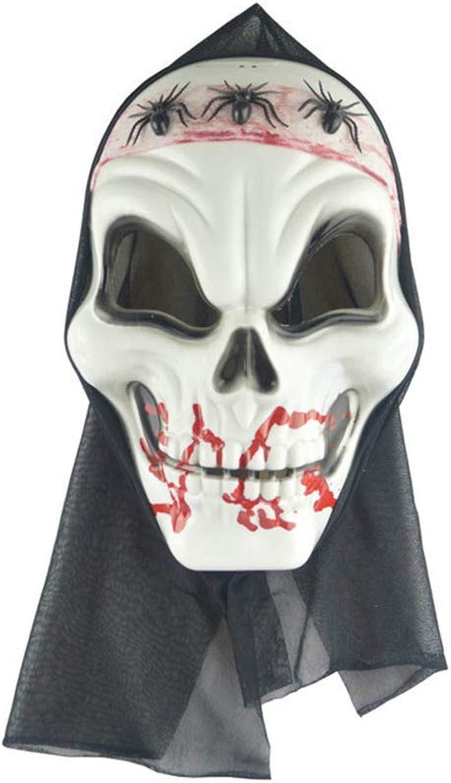 QWhing Maschera Festival Htuttioween Horror Mask Ghost Festival Copricapo Cos Dress Up Bar KTV Activity Mask Smorfia Maschera Ragno Maschera Costume