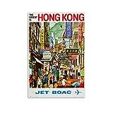 Hong Kong BOAC 1960er Retro Vintage Reise Poster Leinwand