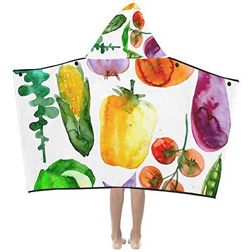 Maíz Pintado Vegetal Fruta Suave algodón cálido Mezclado Los niños se visten con capucha Manta usable Toallas de baño Envoltura de tiro niños pequeños Niñas Niños Tamaño de niños Viajes en el hogar