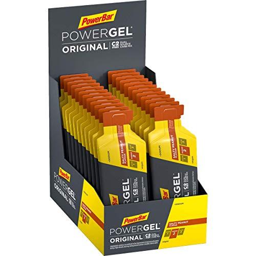 PowerBar PowerGel Original Salty Peanut 24x41g - High Carb Energy Gel + C2MAX Magnesio e Sodio
