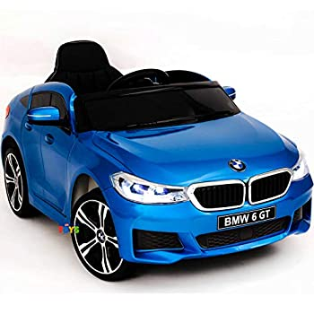 Electric Car - 12V Kids Ride On Car - Battery Operated Ride On Toys with Remote Control - Ride in Car w/ MP3 Music Plastic Wheels Leather Seat Sound Buttons Lights Blue