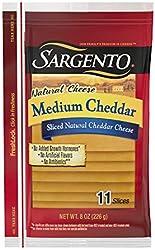 Sargento Sliced Medium Natural Cheddar Cheese, 11 slices