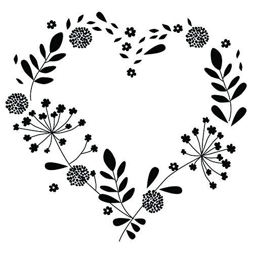 Aladine – Sello de boda – Soporte de madera – Para hacer parte de la boda – álbum de recortes y tarjetas creativas – Gran formato – Diseño de corazón Champêtre