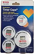 CVS Health Medication Timer Caps 3 Caps for Large or Small Old Style Vials (3)