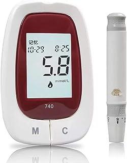 FJLOVE Medidor de glucosa en Sangre/Glucosa en Sangre Kit de Control de la Diabetes Kit con 50 lancetas, 50 Tiras de glucómetro,1 medidor de glucosa en Sangre,1 Dispositivo de punción