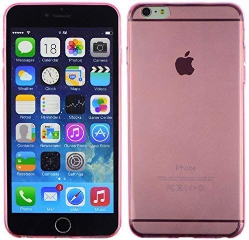 ENERGMiX Ultradünne Slim Silikonhülle kompatibel mit Samsung Galaxy Note Edge N915F // 0,2 mm Hülle Zubehör Schutz Silikon Schale DÜNN in Pink