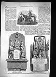 Antiker Druck von Baptist-Perth-Monument-Krim-Krieg 1859