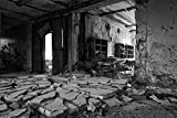 Geisterhaus Ruine Haus Verlassen XXL Wandbild Kunstdruck
