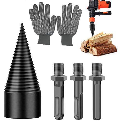 Wood Splitter Drill Bit, 42mm High Speed Splitting Wood Cone Drill Bit for...