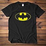 SMURAB DC TEES バットマン BATMAN メンズ/レディース Tシャツ/夏服 スポーツ Tシャツ ブラック/半袖 Tシャ