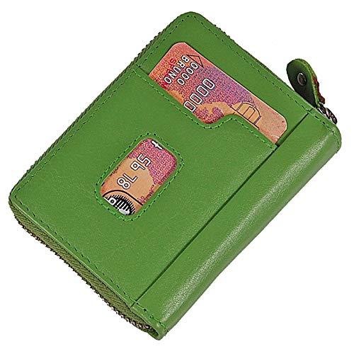 BOCCX 70042 GoBago - Tarjetero de Piel con protección RFID y Cremallera