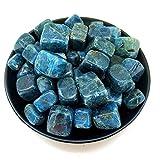 100g aleatorio azul natural de cristal de cuarzo apatita Tumble Cube Stones Lucky 10-30mm Piedras naturales y minerales Cristales curativos