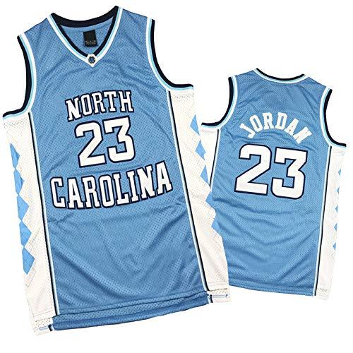 LYDG 23# Jordones Jordán Basketball Jersey, Uniforme De Baloncesto para Hombres, Tela De Malla De Malla De Carolina del Norte, Chaleco Sin Mangas Resistente Al Desgaste Jordanl Blue-S