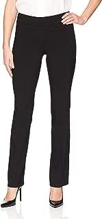 Lark & Ro Women's Dress Pants Black US Size 10S Pull On Bootcut Stretch