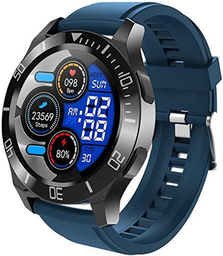 Fitness Tracker 1 28' de alta definición de pantalla grande inteligente mensaje llamado sueño llamada Bluetooth llamada multi-dial tiempo música multifunción pulsera deportiva azul
