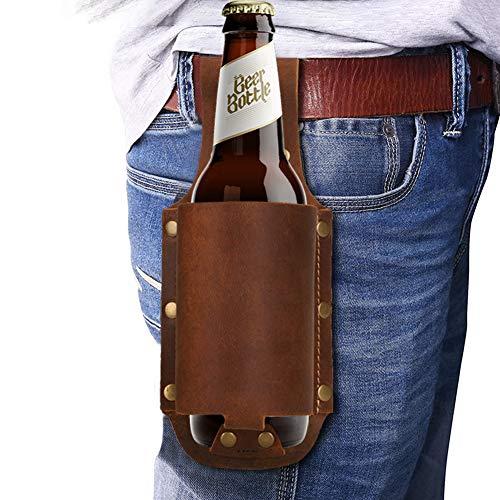 HZDyg Leder Bierholster, Bierhalter, Flaschenholster, Holster Bierhalter, Flaschenhalter, passend für 12 Unzen Flaschen