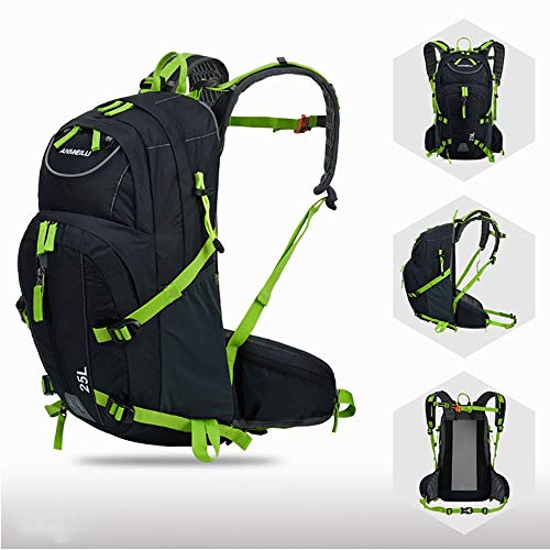MH-RING Bike Backpack 25L Water Resistant, Lightweight Breathable Small Cycling Rucksack for Mini Running Backpack for Bicycle, Riding, Marathon, Hiking (Color : Green)