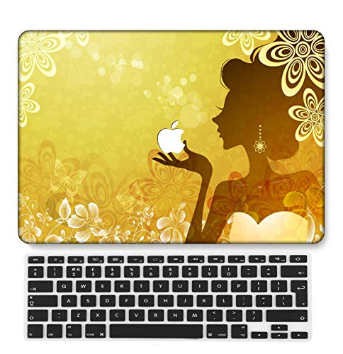 GangdaoCase Plastic Ultra Slim Light Hard Shell Case Cut Out Design Compatible New MacBook Pro 15 inch with Touch Bar/Touch ID with UK Keyboard Cover A1707/A1990 (Portrait A 74)