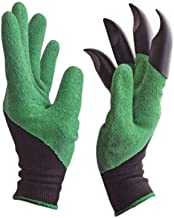 TWENOZ Genie Gloves with Built in Claws for Digging Planting Nursery Plants, Garden Gloves Easy to dig and Plant Safe for Rose Pruning - 1 Pair