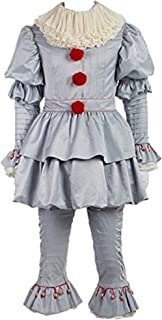 Clown Costume Full Set Halloween Cosplay Outfit Adults Kids