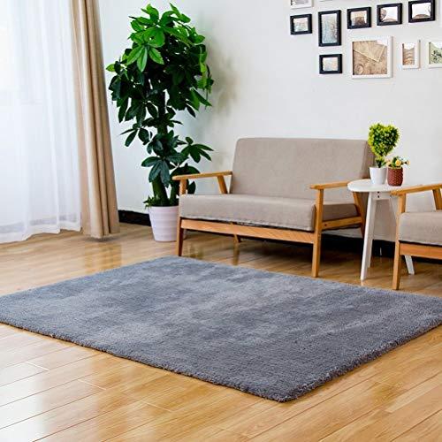 Lfixhssf effen kleur eenvoudige tapijt moderne woonkamer salontafel tapijt slaapkamer huis deken Lfixhssf 200X300CM Grijs