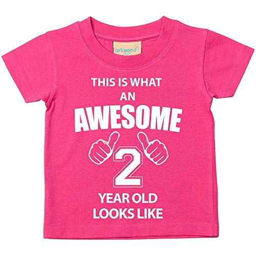 Ce T-shirt est ce qu'un Looks Awesome 2ans comme Rose 2nd Birthday bébé enfant Disponible en tailles 0-6mois à 14-15ans nouveau bébé cadeau Sister - Rose, 12-18 Months