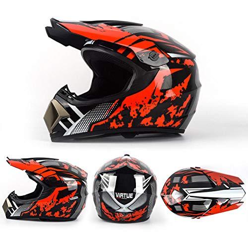 YYXT Casco de moto de cara completa para motociclista, con doble visera interior, legal, para adultos y hombres y mujeres