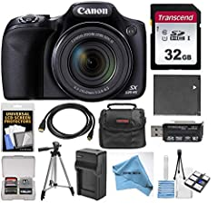 Canon PowerShot SX530 HS 16MP 50x Opt Zoom 1080p Full HD Digital Camera (Black) Powerful 50x Optical Zoom (24–1200mm).Connect easily using Wi-Fi with NFC 16.0 Megapixel High-Sensitivity CMOS sensor combined with the Canon DIGIC 4+ Image Processor Bui...