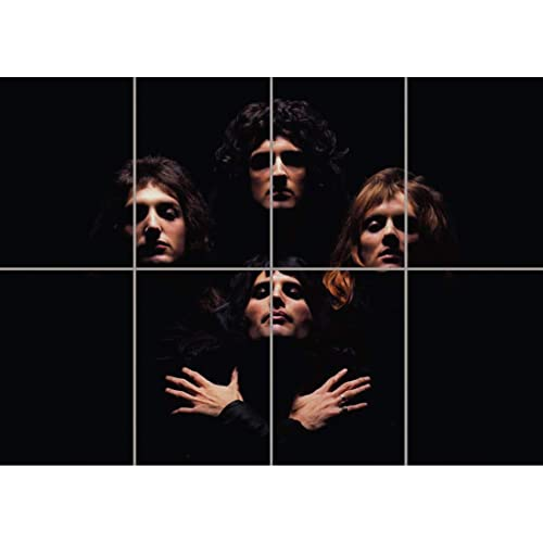 Doppelganger33 LTD Queen Freddie Mercury Band Wall Art Multi Panel Poster Print 47x33 inches
