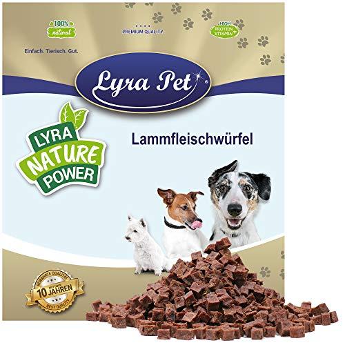 Lyra Pet® 1 kg Lammfleischwürfel Hundefutter Snack fettarm schonend getrocknet getrocknet Leckerli Kausnack Kauartikel für Hunde Kauspaß