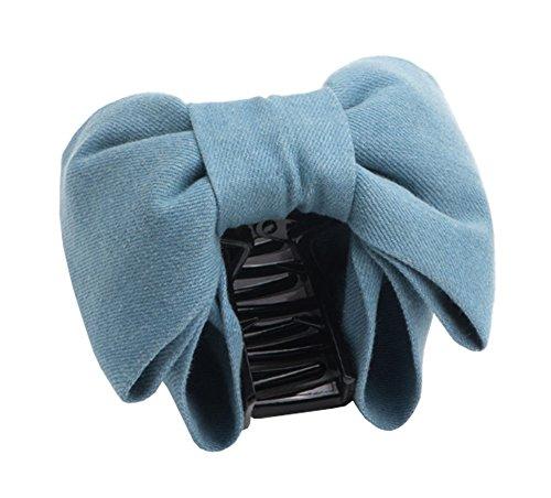 Élégant Femme Lady Girl Hair Barrette Bow Tie Design