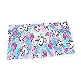 Giddah Cute Mode Kawaii Bunte Streifen Einhorn Heißer Wasser Absorbierendes Mikrofaser Bad Strand Handtuch Schnelle Trocknung 70 * 140 cm (Weiß)
