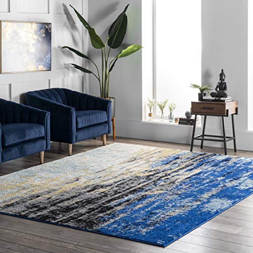nuLOOM Waterfall Vintage Abstract Accent Rug, 2′ x 3′, Blue