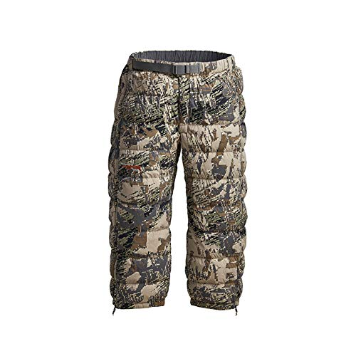 SITKA Gear Men's Kelvin Lite Down 3/4 Camo Insulated Warm Packable Hunting Pants, Optifade Open Country, X-Large