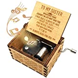 ukebobo Wooden Music Box- You are My Sunshine Music Box, Gifts for Sister, Gifts for BFF,Newest...