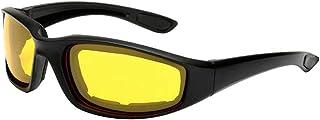 Homyl 1 par de óculos de motociclismo acolchoado de óculos de proteção UV, à prova de poeira, à prova de vento para esport...