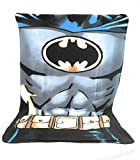 Fleecedecke–Kuscheldecke Fleece Kinder–140x 100cm–Sublimation doppelseitig–170g/m2–Batman–DC Comics