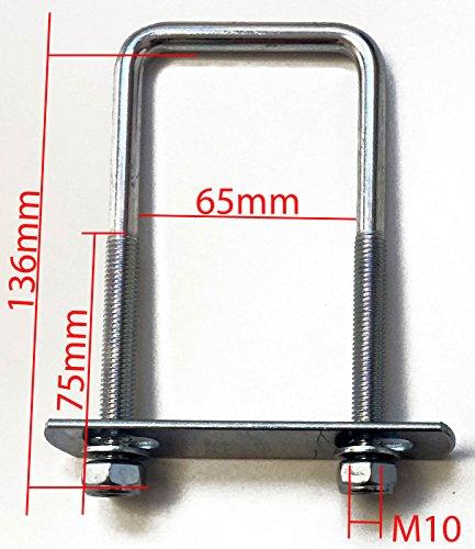 2x U-Bügel - groß - Halterungen, Befestigungssatz für Deichselbox, Halter für Staubox, Werkzeugkasten, Montagesatz - 2